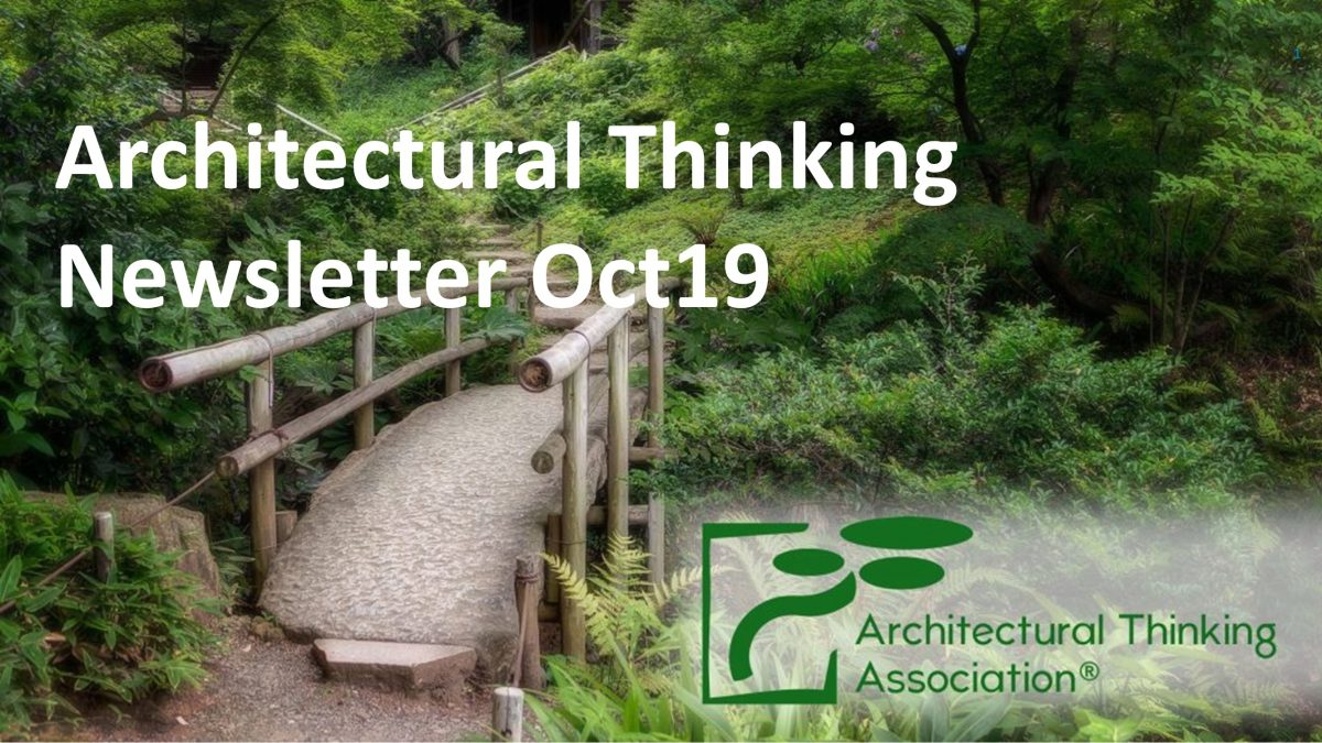 AT#44 – Architectural Thinking Newsletter Oct19